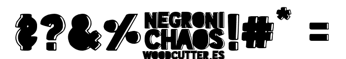 Negroni Chaos Font OTHER CHARS