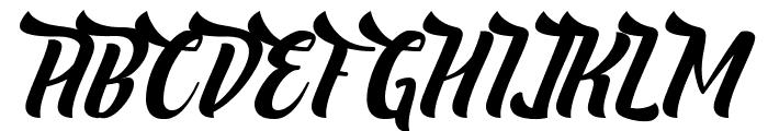 Nelda Free Font UPPERCASE