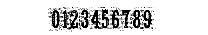 NelsonOldNewsPaper Regular Font OTHER CHARS