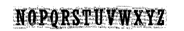 NelsonOldNewsPaper Regular Font UPPERCASE