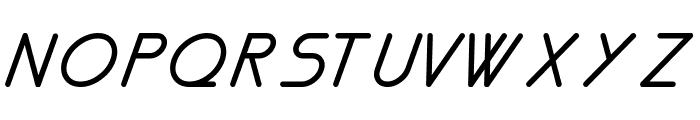 Nemesia italic Font UPPERCASE