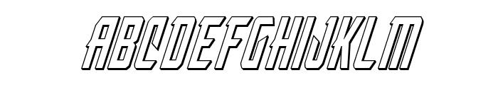 Nemesis Enforcer 3D Italic Font UPPERCASE