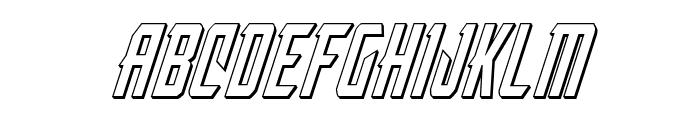 Nemesis Enforcer 3D Italic Font LOWERCASE