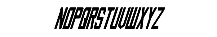 Nemesis Enforcer Condensed Italic Font UPPERCASE