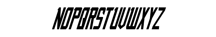 Nemesis Enforcer Condensed Italic Font LOWERCASE