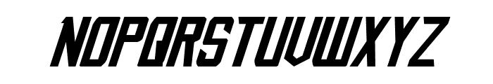 Nemesis Enforcer Expanded Italic Font UPPERCASE