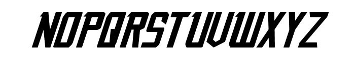 Nemesis Enforcer Expanded Italic Font LOWERCASE
