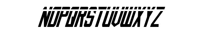 Nemesis Enforcer Laser Italic Font UPPERCASE