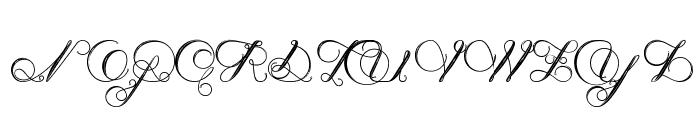 NenupharofVenus Font UPPERCASE