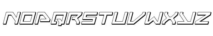 Neo-Navy 3D Italic Font LOWERCASE