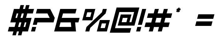 Neo-Navy Condensed Italic Font OTHER CHARS