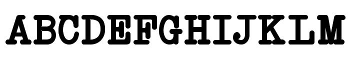 NeoBulletin Bold Font UPPERCASE