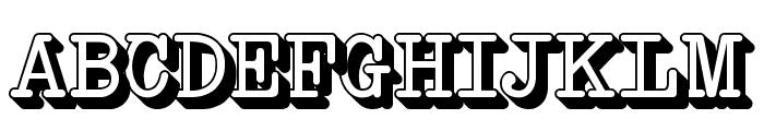 NeoBulletin Extruded Font UPPERCASE
