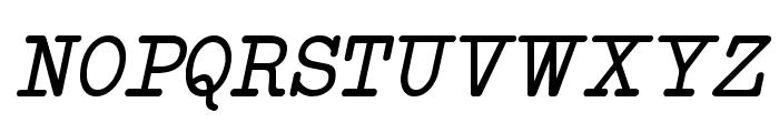 NeoBulletin Italic Font UPPERCASE