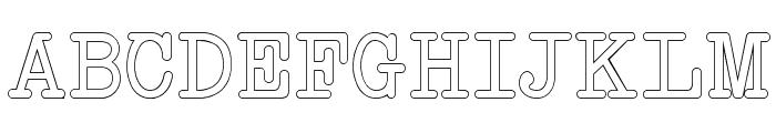 NeoBulletin Outline Font UPPERCASE