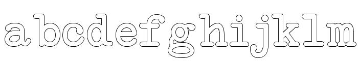 NeoBulletin Outline Font LOWERCASE