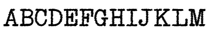 NeoBulletin Trash Font UPPERCASE