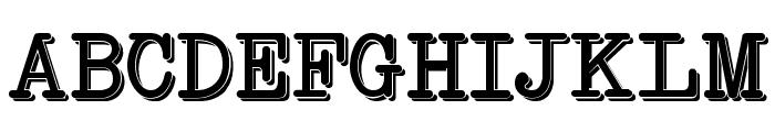 NeoBulletin Two Font UPPERCASE