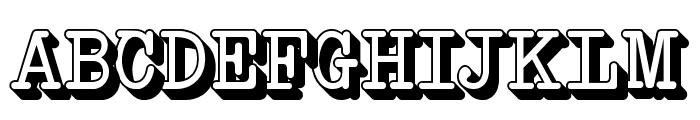 NeoBulletinExtruded Font UPPERCASE