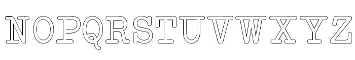 NeoBulletinOutline Font UPPERCASE
