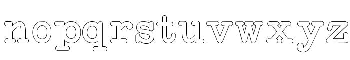 NeoBulletinOutline Font LOWERCASE