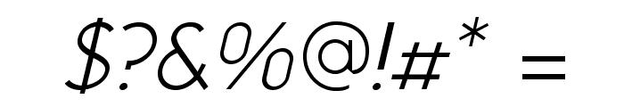 NeoGothisADFStd-LightOblique Font OTHER CHARS