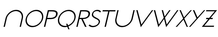 NeoGothisADFStd-LightOblique Font UPPERCASE