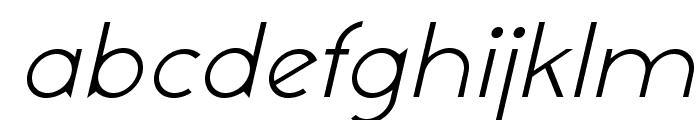 NeoGothisADFStd-LightOblique Font LOWERCASE