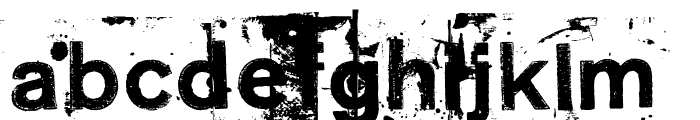 NeoPrint M319 Font LOWERCASE
