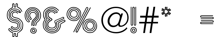 Neone Regular Font OTHER CHARS