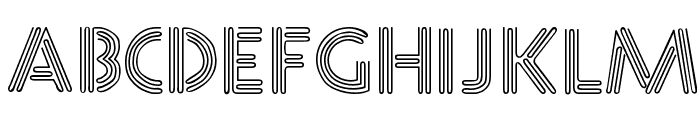 Neone Regular Font UPPERCASE