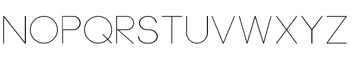 Neou Thin Font UPPERCASE