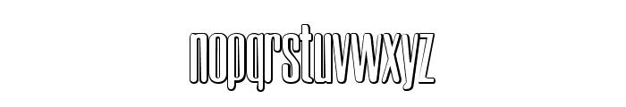 Neretta Beveled Font LOWERCASE