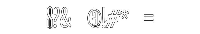 Neretta Outline Font OTHER CHARS