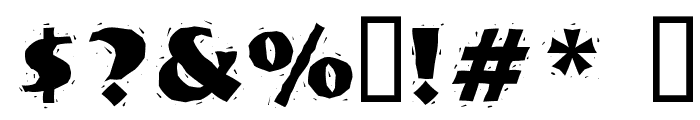 NervouzReich Rank Font OTHER CHARS