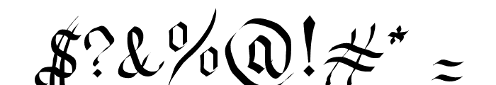 Neue Goth Font OTHER CHARS