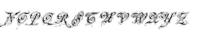 Neue Zier Schrift Font UPPERCASE