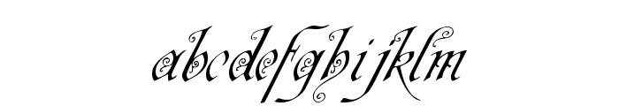 Neue Zier Schrift Font LOWERCASE