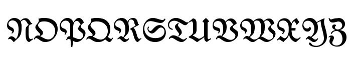 NeueFraktur Font UPPERCASE