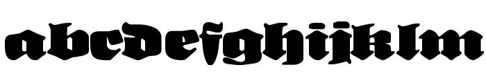 NeueFrakturExtraBold Font LOWERCASE