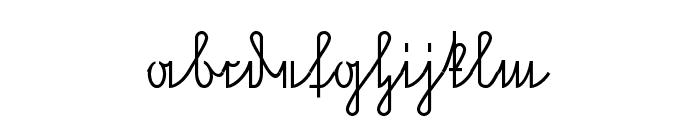 NeueRudelskopVerbunden Font LOWERCASE