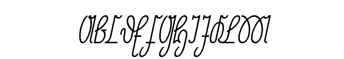 NeueRudelskopf-Italic Font UPPERCASE