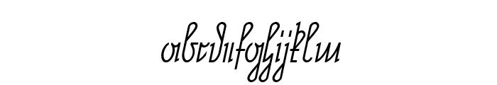 NeueRudelskopf-Italic Font LOWERCASE