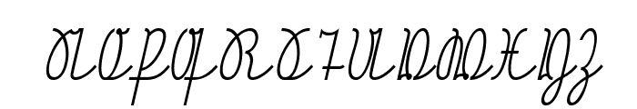NeueRudelskopfVerbunden-Italic Font UPPERCASE
