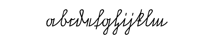 NeueRudelskopfVerbunden-Italic Font LOWERCASE