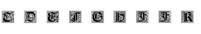 Neugotische Initialen Font UPPERCASE