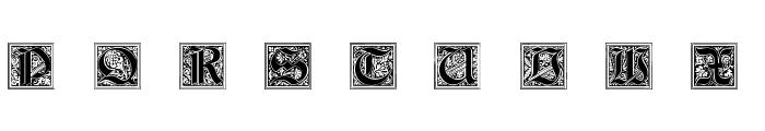 Neugotische Initialen Font LOWERCASE