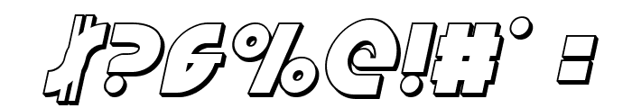 Neuralnomicon 3D Italic Font OTHER CHARS