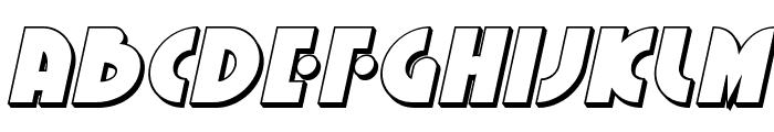 Neuralnomicon 3D Italic Font UPPERCASE