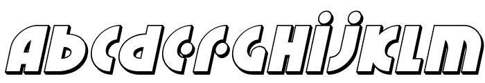 Neuralnomicon 3D Italic Font LOWERCASE